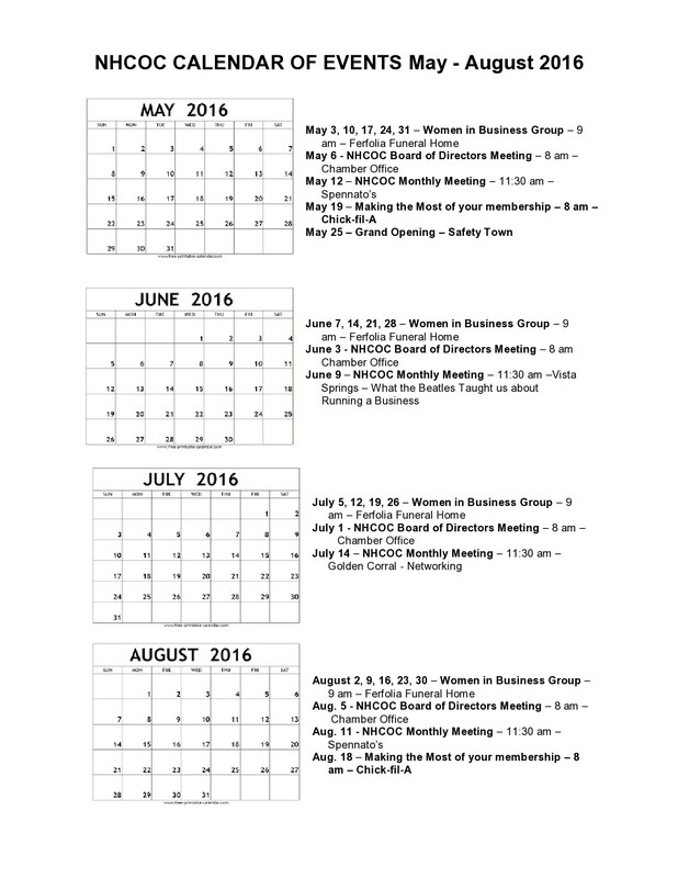 May Calendar Of Events : Nordonia hills chamber of commerce nhcoc events